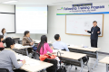 Labour supervisors from Mongolia attend a lecture on occupational safety and health statistics at the training institute of the Korea Occupational Safety and Health Agency (KOSHA) in Ulsan, Wednesday. Photo: KOSHA