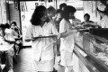Teenagers in Cafe de Coral fast food restaurant in Central in 1986.