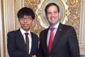 Joshua Wong meets Senator Marco Rubio in Washington. Photo: SCMP Pictures