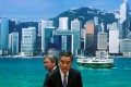 """Hong Kong Chief Executive Leung Chun-ying and Financial Secretary John Tsang attend a news conference earlier this month. If President Xi Jinping and his camp were in favour of the so-called """"tough as steel"""" Leung, the chief executive would have tossed his hat in the ring long ago. Photo: Reuters"""