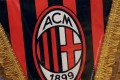 The AC Milan logo is pictured on a pennant in a soccer store in downtown Milan, Italy. Photo: Reuters