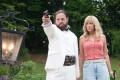 Zach Galifianakis and Kristen Wiig in the comedy heist film Masterminds.