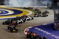 Night action at the Singapore Formula One Grand Prix. Photo: SCMP Pictures