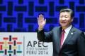 President Xi Jinping pictured at the Apec summit in Peru. Photo: EPA
