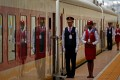 Stewardesses stand in line during the inauguration of the new train line linking Addis Ababa to the Red Sea state of Djibouti. Chaoyue Group said it's landed a contract to build a renminbi settlements network for the African country. Photo: Reuters