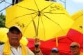 Protesters in a still from Evans Chan's documentary Raise the Umbrellas. Photo: P. H. Yang