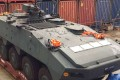 A picture from Facebook of an armoured vehicle seized at Kwai Chung cargo terminal. Photo: SCMP