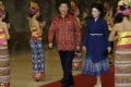 President Xi Jinping and his wife Peng Liyuan at the Asia-Pacific Economic Cooperation Summit in Nusa Dua, Bali, in October 2013. Photo: AFP