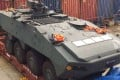 One of the Singaporean armoured vehicles impounded in Hong Kong. Photo: SCMP Pictures