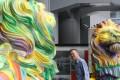 e rainbow sculptures of Stephen (left) and Stitt at HSBC headquarters in Central. Photos: Felix Wong