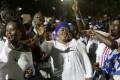 Supporters of Ghana's president-elect Nana Akufo-Addo celebrate in Accra. Photo: AP