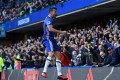 Diego Costa celebrates after scoring for Chelsea in their 1-0 win over West Bromwich Albion at Stamford Bridge. Photo: AFP