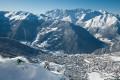 A freerider tackles challenging terrain in Verbier, Switzerland. Photo: Verbier St Bernard
