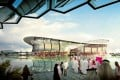 A general view of the proposed new Lusail Iconic Stadium in Lusail City. Photo: EPA