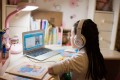 A Chinese girl using VIPKid's English lessons service. Photo: Handout