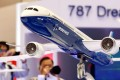 Visitors take pictures of a model of Boeing's 787 Dreamliner during the Japan Aerospace 2016 air show in Tokyo, Japan. Photo: Reuters