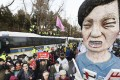 Anti-Park protesters call for the president to resign. Photo: Kyodo