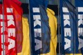 Ikea flags outside a store in Delft, the Netherlands. Photo: Reuters