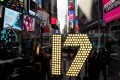 Times Square in New York gets ready for New Year's Eve celebrations. In 2017, Brexit and Donald Trump's assumption of the US presidency will bring many more surprises. Photo: AFP