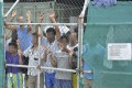 A file picture of asylum seekers at the Manus Island detention centre. Photo: EPA