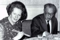 Former British prime minister Margaret Thatcher at a dinner hosted by visiting Chinese premier Zhao Ziyang at the Chinese embassy in London in 1985. Photo: Reuters