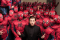 Tom Holland and an army of Spider-Men invade Hollywood to debut the Columbia Pictures' Spider-man: Homecoming trailer on December 8, 2016. Photo: Eric Charbonneau