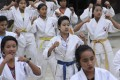 Young girls and women at a refugee camp in Myanmar's Kachin state are studying karate to help protect themselves from a known threat: the country's own military. Photo: AP