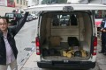 The robbers left six bags of gold bars behind in this van. Photo: Handout