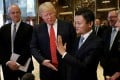 US President-elect Donald Trump and Alibaba founder Jack Ma speak with members of the press after their meeting in Trump Tower in New York on Monday. Photo: Reuters