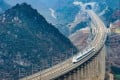 One of China Railway's recent projects is a high-speed line from Shanghai to Kunming that runs for 2,252km. Photo: Xinhua