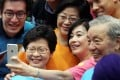 Chief Secretary Carrie Lam resonated with older and less educated respondents. Photo: Edward Wong