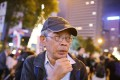 Former missing bookseller Lam Wing-kee during a protest march in Hong Kong on January 1. Photo: Dickson Lee