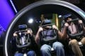 Attendees ride the Samsung Galaxy Gear VR 4D Experience during the CES in Las Vegas this month. Photo: Bloomberg