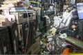 Old stereos and video recorders in a shop in Kuala Lumpur, part of a mountain of electronic waste piling up across Asia. Photo: AP