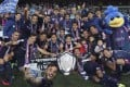 Kitchee celebrate after defeating arch-rivals Eastern in the Senior Shield final at Hong Kong Stadium. Photos: Dickson Lee