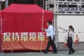A booth at Victoria Park set up for the Lunar New Year Fair. Two pro-independence political parties have been banned from setting up a booth because of public safety. Photo: Felix Wong