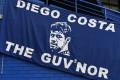 A banner at Stamford Bridge honouring Costa. Photo: Reuters