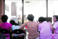 Foreign domestic helpers at a maid agency. Photo: TODAY file photo