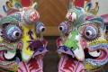 Ornate lion heads created by Kenneth Mo for Lunar New Year. Photos: Kenneth Mo
