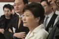 South Korean President Park Geun-hye listens to a reporter's question during a meeting. Photo: AP