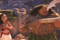 Moana (voiced by Auli'i Cravalho) and demigod Maui (Dwayne Johnson) in Moana (category: I), directed by Ron Clements and John Musker.