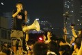 Activist Joshua Wong Chi-fung delivers a speech during the 2014 Occupy movement. Photo: Felix Wong