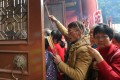 Worshippers entering Che Kung Temple in Sha Tin. Photo: David Wong