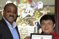 Antigua and Barbuda Prime Minister Gaston Browne with Xiao. Photo: Handout