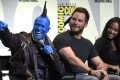 "Michael Rooker, left, Chris Pratt and Zoe Saldana attend the ""Guardians of the Galaxy Vol. 2"" panel at the Comic-Con International in San Diego in 2016. Photo: Invision/AP"