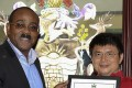 Prime Minister of Antigua and Barbuda Gaston Browne, left, with Xiao Jianhua in 2015. Photo: Handout