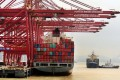 A ship loaded with containers the Port of Ningbo in Zhejiang province. Photo: Reuters