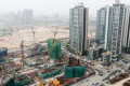 Building continues unabated at the site of the old airport at Kai Tak. Photo: SCMP