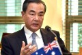 China's Foreign Minister Wang Yi in Canberra during talks with his Australian counterpart Julie Bishop on Tuesday. Photo: AFP