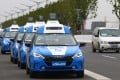 Baidu driverless cars are pictured during the 3rd World Internet Conference in China in November last year. The company has been gearing up its efforts in AI, which it has aggressively applied to driverless cars. Photo: Simon Song